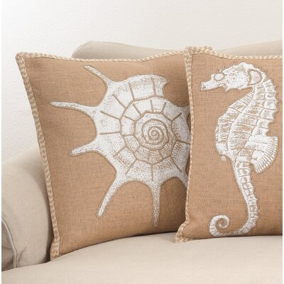 Aloisia Show and Shell Down Filled Throw Pillow