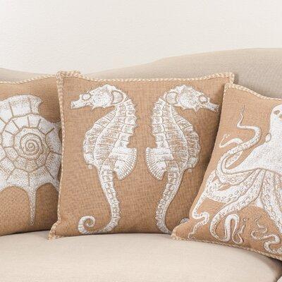 Aloisia I See Seahorses Down Filled Throw Pillow