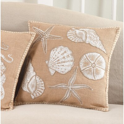 Aloisia I See Seashells Down Filled Throw Pillow