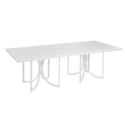 Dani Outdoor Empire Slat Top Rectangle Dining Table