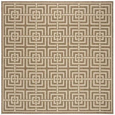 Adalbert Beige/Cream Area Rug Rug Size: Square 67
