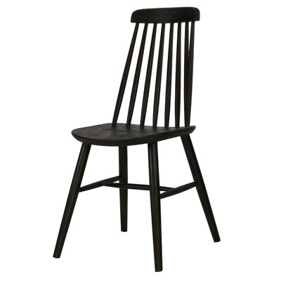 Cami Windsor Solid Wood Dining Chair Finish: Espresso