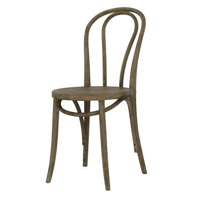 Karolyne French Cafe Solid Wood Dining Chair Finish: Weathered
