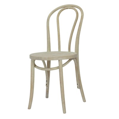Karolyne French Cafe Solid Wood Dining Chair Finish: White Wash