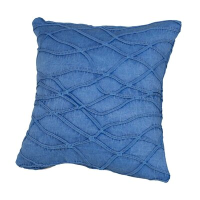 Benat Textured Waves Throw Pillow Size: 17 x 17