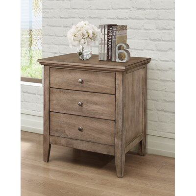 Lignite 3 Drawer Nightstand Finish: Driftwood