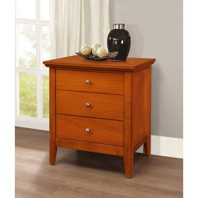 Lignite 3 Drawer Nightstand Finish: Oak