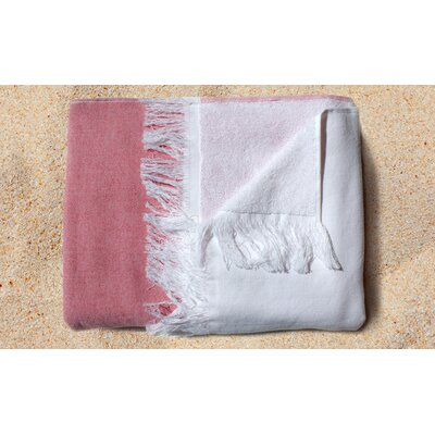 Gibson Yarn Dyed Beach Towel Color: Red