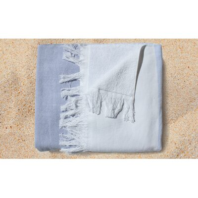 Glencoe Yarn Dyed Beach Towel Color: Blue