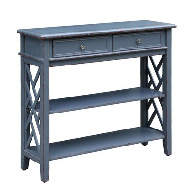 Durham Slate 2 Drawer Console Table