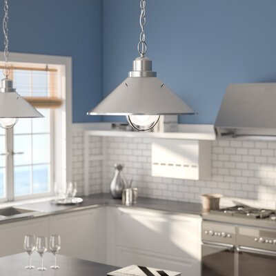 Castro 1-Light Pendant Finish: Brushed Nickel