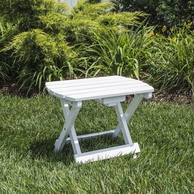 Livingston Solid Wood Adirondack Folding Side Table Finish: White