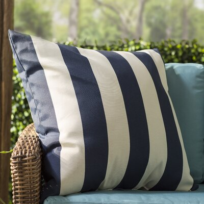 Dazelle Indoor/Outdoor Throw Pillow Size: Extra Large, Fabric: Navy Blue