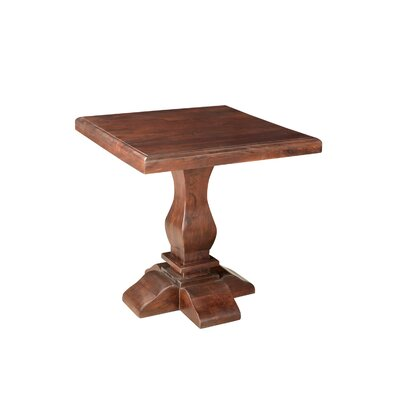 Maliyah Pedestal End Table Color: Brown