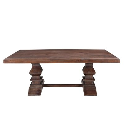 Maliyah Pedestal Coffee Table Color: Brown