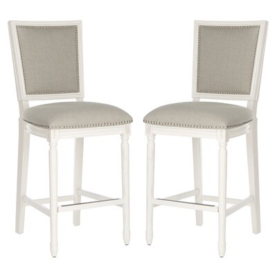 Ingraham 30 Bar Stool Upholstery: Light Gray, Frame Color: Cream