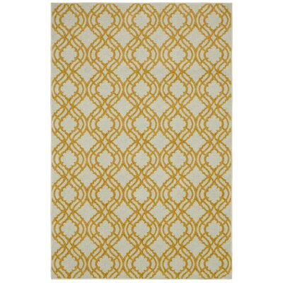 Sammons Cr�me/Yellow Area Rug Rug Size: Rectangle 5 x 8
