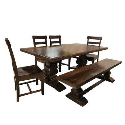 Royal 7 Piece Dining Set Color: Brown