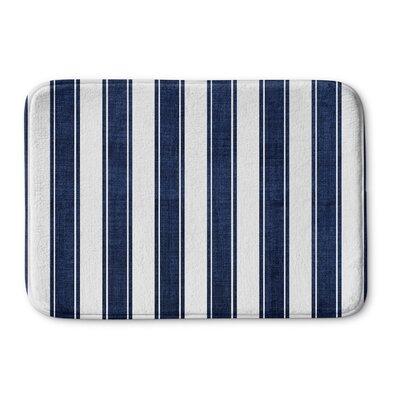 Melton Stripe Memory Foam Bath Mat Size: 17 W x 24 L