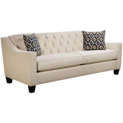Ingersoll Sofa Body Fabric: Hobnob Vanilla, Pillow Fabric: Adrian Indigo