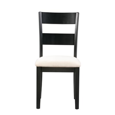 Emmalynn Solid Wood Dining Chair Frame Color: Black/White