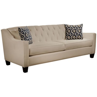 Ingersoll Sofa Body Fabric: Gaberdine Raffia, Pillow Fabric: Adrian Indigo