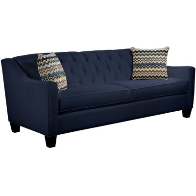 Ingersoll Sofa Body Fabric: Gaberdine Navy, Pillow Fabric: Bolt Azure