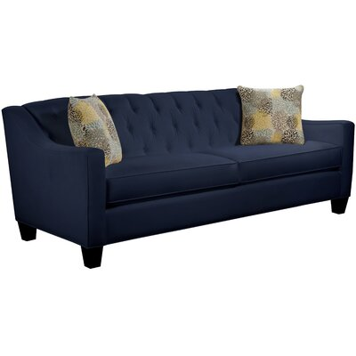 Ingersoll Sofa Body Fabric: Gaberdine Navy, Pillow Fabric: Blooms Collins