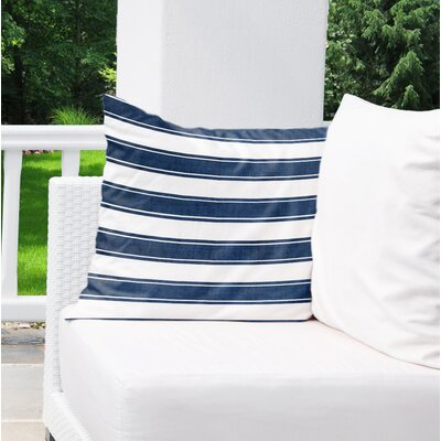 Melton Stripe Burlap Indoor/Outdoor Throw Pillow Size: 18 H x 18 W x 5 D