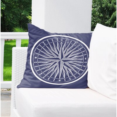 Melton Compass Indoor/Outdoor Throw Pillow Size: 18 x 18