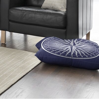 Melton Compass Square Floor Pillow Size: 26 H x 26 W x 12.5 D