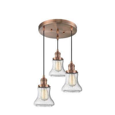 Nardone 3-Light Cluster Pendant Color: Antique Copper