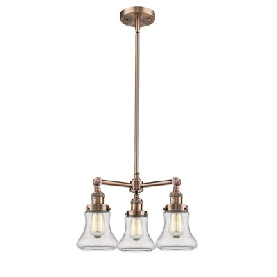 Nardone 3-Light Mini Chandelier Color: Antique Copper