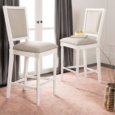 Ingraham 30 Bar Stool Upholstery: Light Gray, Frame Color: Cream
