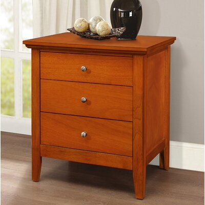 Lignite 3 Drawer Nightstand Color: Oak