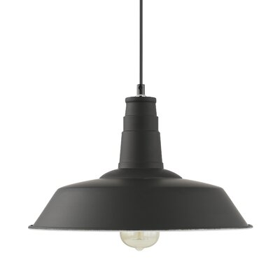 Sydney 1-Light Inverted Pendant Color: Black