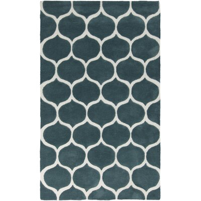 Cortez Teal Blue/Peach Cream Rug Rug Size: Rectangle 5 x 8