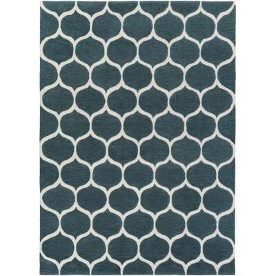 Cortez Teal Blue/Peach Cream Rug Rug Size: Rectangle 8 x 11