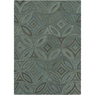 Quinn Green/Slate Gray Rug Rug Size: Rectangle 5 x 8