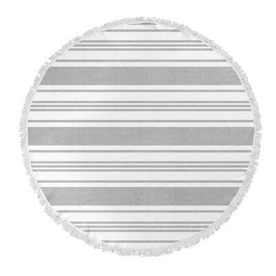 Ellicott Round Beach Towel Color: Grey/ White