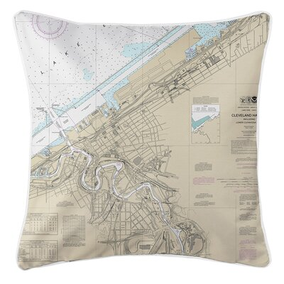 Ellisburg Cleveland Harbor, OH Throw Pillow