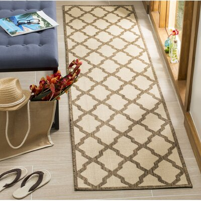 Cashion Cream/Brown Area Rug Rug Size: Runner 2 x 8