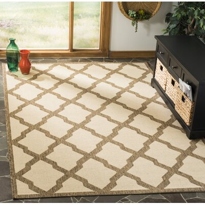 Cashion Cream/Brown Area Rug Rug Size: Rectangle 9 x 12