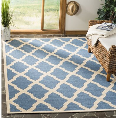 Callender Blue/Creme Area Rug Rug Size: Rectangle 51 x 76