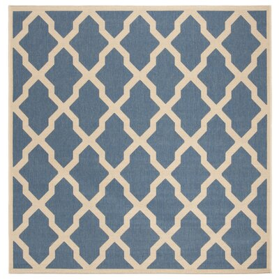 Callender Blue/Creme Area Rug Rug Size: Square 67
