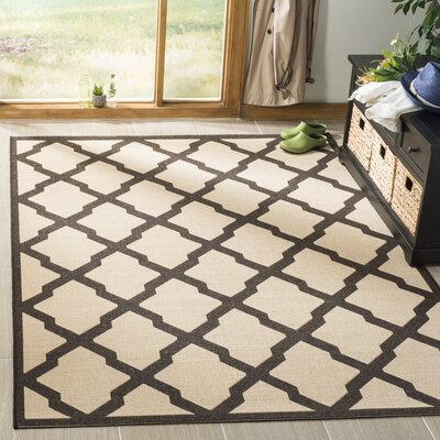 Cashion Cream/Brown Area Rug Rug Size: Rectangle 51 x 76