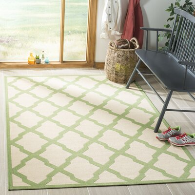 Callender Cream/Olive Area Rug Rug Size: Rectangle 4 x 6