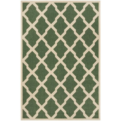 Cashion Cream/Green Area Rug Rug Size: Rectangle 8 x 10