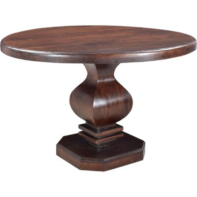 Maliyah Pedestal Dining Table Color: Brown, Size: 30 H x 48 D x 48 W