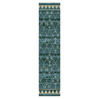 Briella Blue Area Rug Rug Size: Runner 27 x 8